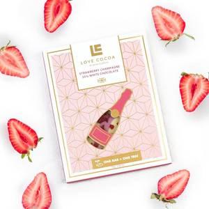 Bilde av Love Cocoa White Chocolate`Strawberry Champagne`